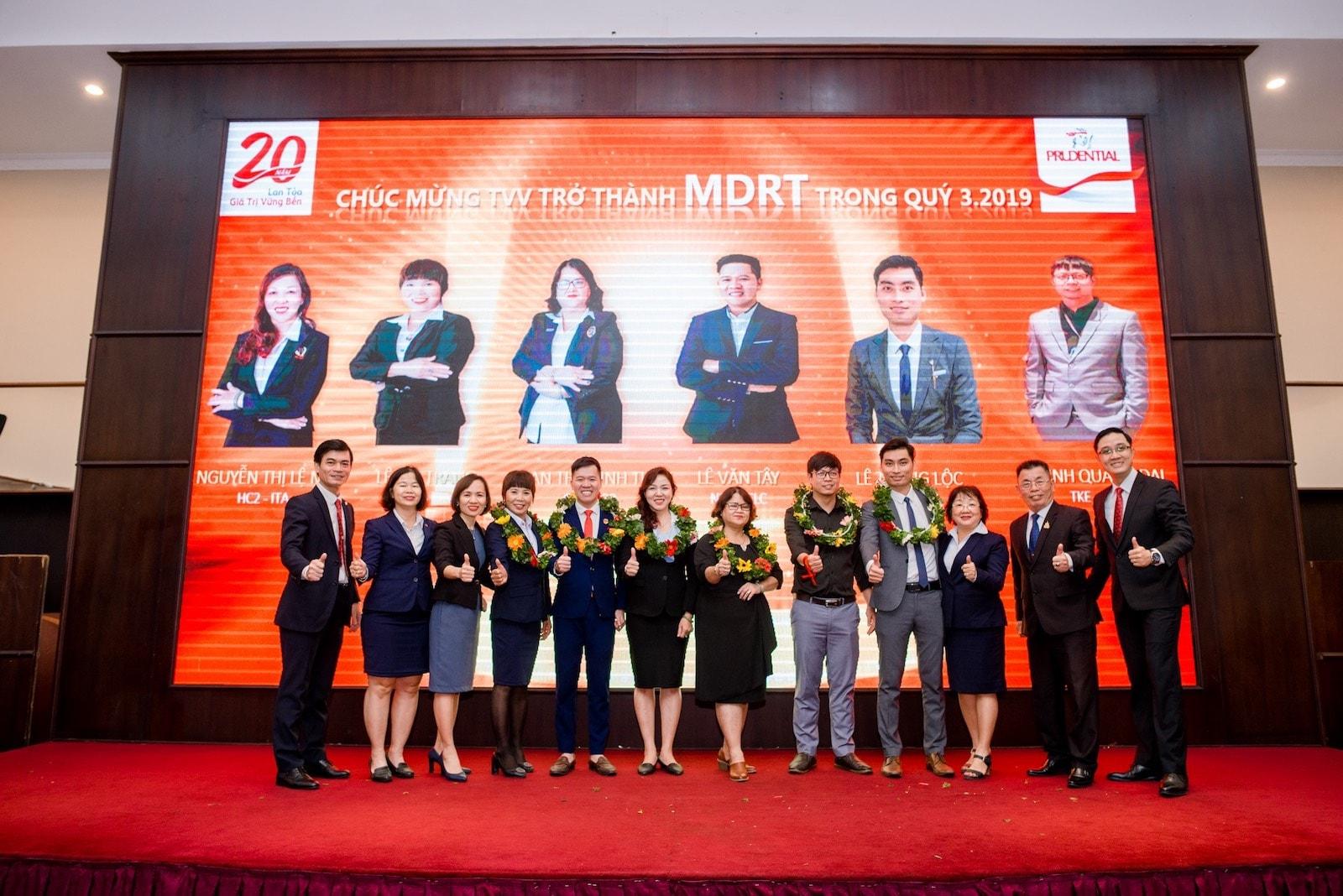 Tư vấn viên đạt MDRT Quý 3 2019