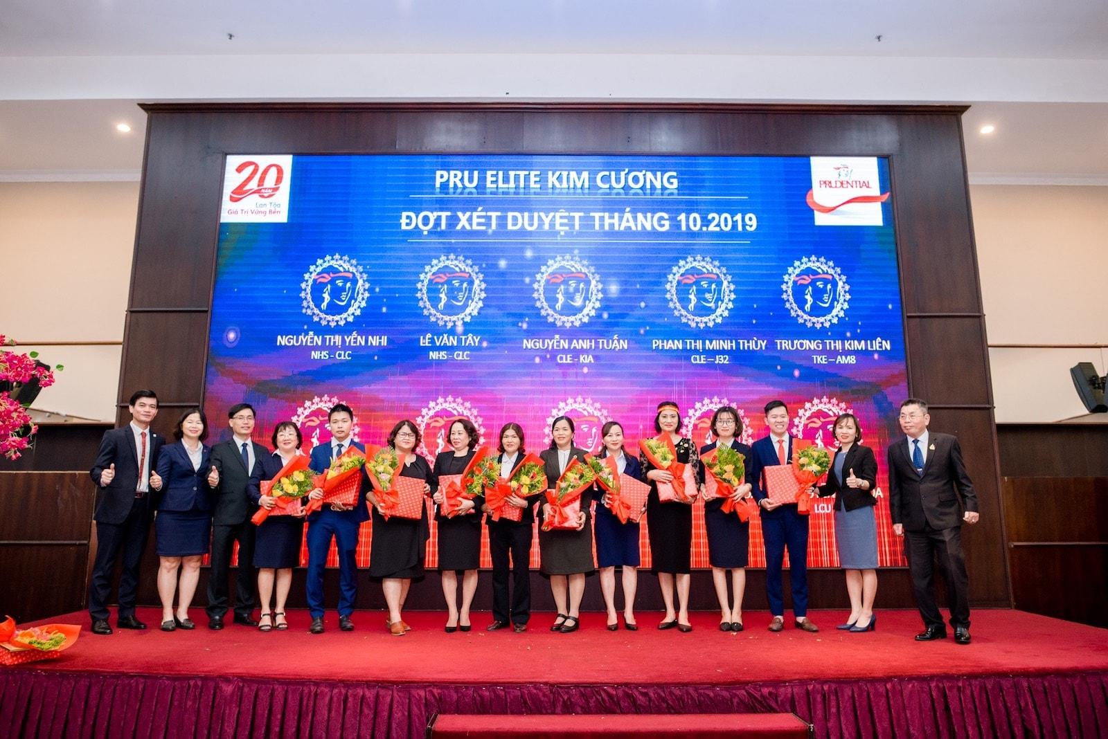 Pru Elite Kim Cương đợt xét duyệt tháng 10-2019
